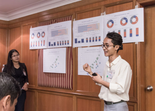 SWS Cambodia: December workshop participants presenting data