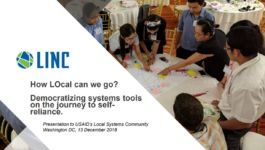 Click this image to view LINC's December 13, 2018 presentation to USAID's Local Systems Community.