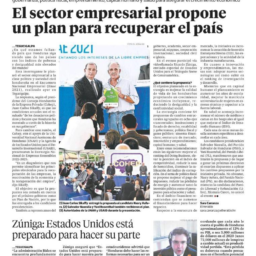 Honduran Business Sector Presents TMS-Supported Strategy for Economic Growth - Newspaper page